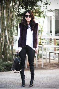 fur vests and leather.    www.theversastyle.com