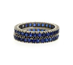 14K Gold Blue Sapphire Band Ring Lot of 2 Featured in our upcoming auction on September 29!
