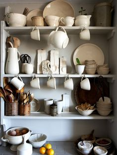 I love every detail in this image, especially the plaster spoon molds and the bent birch utensil canisters.