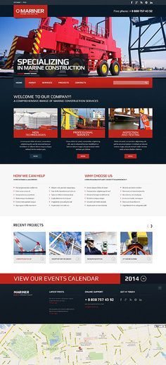 Mariner construction #website #template. #themes #business #responsive