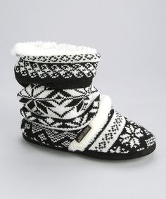 Take a look at this White Scrunch Slipper Boot - Women by MUK LUKS on #zulily today!