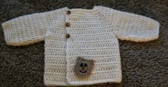 Easy crochet cardigan patterns for babys, crochet sweater patterns Free Crochet Pattern for baby cardigan with Bear applique. Perfect for baby boys or baby girls.