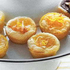 Sweet coconut meets tart lemon to bring you this perfect one-bite dessert. Lemon-Coconut Tarts | MyRecipes.com