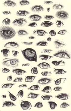 Eye Sketches by ~ShadowSeason on deviantART