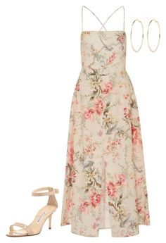 """Untitled #3863"" by injie-anis ❤ liked on Polyvore featuring Manolo Blahnik, Zimmermann and River Island"