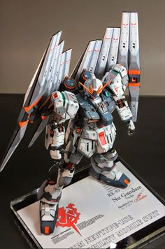 MG 1/100 nu Gundam Ver. Ka Custom Build with LED Lights - Gundam Kits Collection News and Reviews