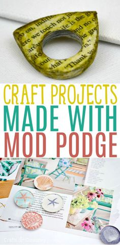 Are you familiar with Mod Podge? It's a glue and sealant all in one. It's great for making decoupage crafts and helps you transform something plain into something with pizzazz. We've rounded up these craft projects made with Mod Podge and we just know you're going to find something amazing here you love. #diy #crafts #teencrafts #projects #diycrafts #craftprojects Cool Gifts For Teens, Birthday Gifts For Teens, Diy For Teens, Diy Projects For Teens, Crafts For Teens, Easy Diy Projects, Craft Projects, Craft Ideas