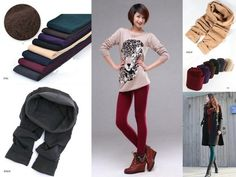 Various Color Women's Thick Warm Slim Stretch Footless Tights Leggings Pants