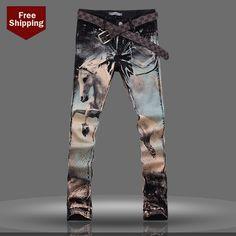 Painting On Denim Ripped Jeans Men, Jeans Pants, Jeans 2014, Trendy Jeans, Hip Hop, Design T Shirt, Patterned Jeans, Future Clothes, Painted Jeans