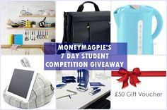 There's still time to enter all 7 of our student competitions!   You can win a Swan kettle, Aldi kitchen essentials, £50 beauty voucher and much more.   But you have to be in it to win it!   So Enter here NOW...