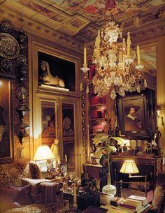 8.5- Above the fireplace hangs a Frans Hals portrait Love this Paris apartment all the details perfect.