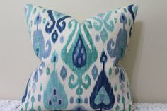 Front Only or BOTH SIDES Django Ikat Print in by PillowTalkandMore