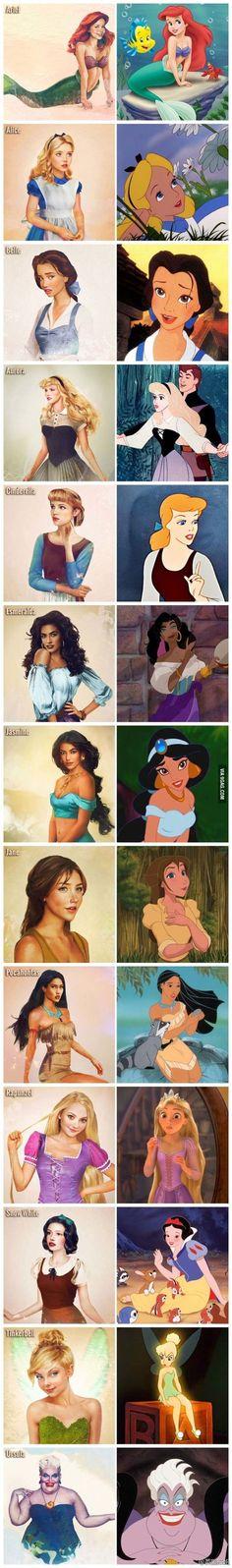 Realistic Disney Characters
