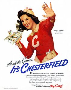 1941- At the Game — It's Chesterfield «They Satisfy».