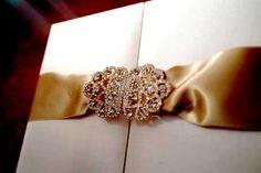 Lela New York's Gatefold Silk Box Invitations