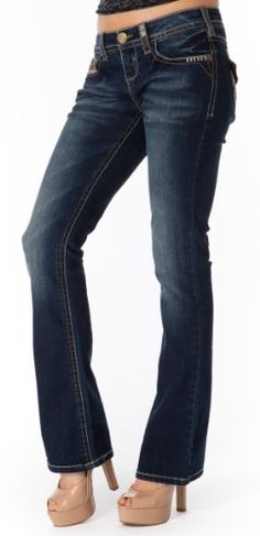 WallFlower Juniors Vintage Collection Legendary Bootcut Jeans with Flap Back Pocket - http://cheune.com/a/73617486888542769