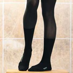 Bootights have thick, warm socks attached that are hidden when wearing boots - must find these for the winter! Any NYC-based flight attendant who's cut a path through 2-feet of snow with their suitcase will know why we need these! :-D