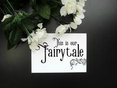 """This Is Our Fairytale 5x7"""" Print - Wedding Gift Love Wall Art - Newlyweds Paper Anniversary Housewarming Print by ShopStreetlights"""