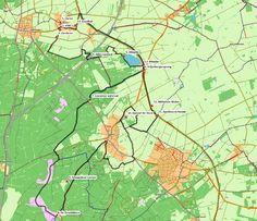 Lieren - Loenen (38 km) # Een prachtige, heuvelachtige fietsroute die u onder andere langs het emplacement van de Veluwse Stoomtrein Maatschappij en de Loenense waterval voert.