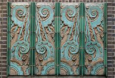 The plaque describing these two Art Deco style relief sculptures incorrectly indicate that they came from a building at 111 E. 47th Street. 111 E. 47th is one of a number of addresses in a still-extant two story taxpayer built in the 1910s.