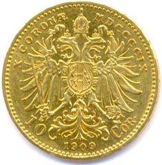 Austrian 10 Corona golden coin 1909