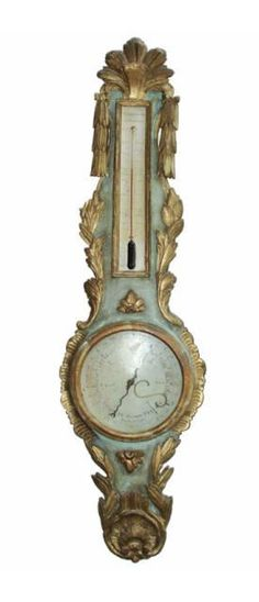 18th century french barometer...not a clock, but would look fabulous in place of one.