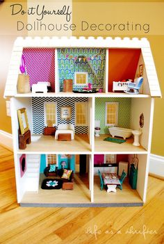 Life as a Thrifter: Do it Yourself Dollhouse Decorating