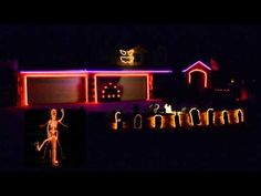 Musical Halloween light show to Thrift Shop - YouTube