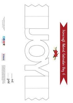 Trimcraft Advent Calendar Day 6- Free Printable Joy Cracker Card Template