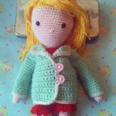 Nieuw jasje van het boek mijn gehaakte pop Annemarie Evers/mani di Anne