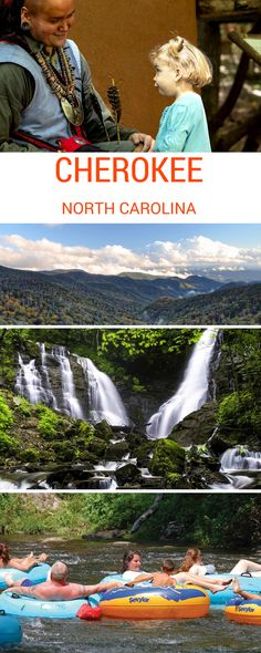 Visit Cherokee, North Carolina for fun in historic proportions.Fishing, golf, tubing, waterfalls, and hiking are just a few of the many vacation treasures you'll find in this Smoky Mountains adventure town. Experience 11,000 years of soul-stirring Cherokee history, culture, art, legend, traditions, and events.