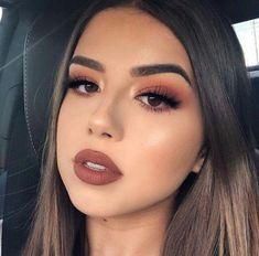 The Best Natural Makeup Tips – LovelYou Prom Makeup Looks, Fall Makeup Looks, Winter Makeup, Cute Makeup, Glam Makeup, Pretty Makeup, Bridal Makeup, 1980 Makeup, Peach Makeup Look
