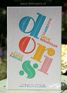 letterpers_letterpress_geboortekaartje_Doris_vijfkleuren_typografisch