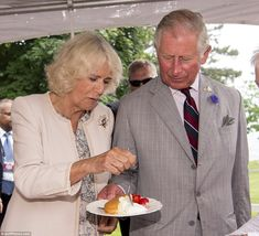 On Friday the Duchess of Cornwall, pictured left, and Prince Charles, pictured right, met food producers at the Wellington Farmers' Market