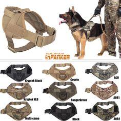 Tactical Dog K9 Training Patrol Vest Harness [2 Sizes, 9 colors option] | eBay