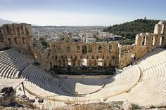 A full view of the Herodion Theater, Athens