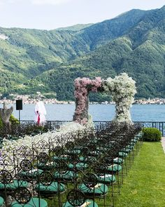 Modern romantic elegant outdoor wedding ceremony backdrop ideas with pink flower wedding arch and Lake Como destination wedding scenery view. Discover more unique luxury wedding inspiration on GEMOLOGUE! Wedding Blog, Destination Wedding, Dream Wedding, Luxury Wedding, Wedding Ideas, Bridal Jewellery Inspiration, Wedding Inspiration, Brazilian Wedding, Wedding Ceremony Backdrop