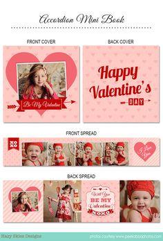 Accordion Mini Book Template | Be My Valentine