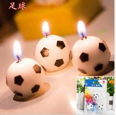Mini High Swept Cute Soccer Ball Football Birthday Party Cake Candles Decorations Supplies For Kids -Enjoy (Color: Black) Birthday Cake With Candles, Cupcake Birthday Cake, Happy Birthday Cakes, Football Birthday, Kids Party Decorations, Party Themes, Birthday Gifts For Kids, Birthday Parties, Gift Cake