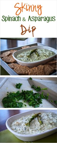 Skinny Spinach and Asparagus Dip Recipe! ~ at TheFrugalGirls.com {great as a party and holiday appetizer!} #dips #appetizers #recipes