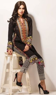 Orient Plain / Embroidered Kurtis Collection 2015 Summer Lawn Magazine ~ Clothing9 | Latest Clothes Fashion Online Dress Designers