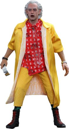 BLOG DOS BRINQUEDOS: Dr. Emmett Brown Back to the Future Sixth Scale Fi...