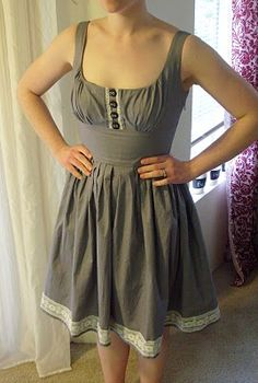 """this chick saw a dress on Mod Cloth, thought """"Oh, I can make that!"""" and did!.... :( wish I could sew!"""