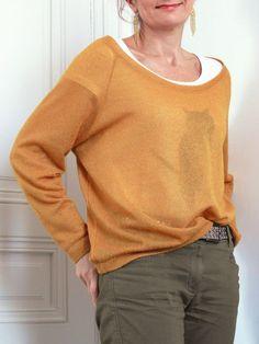 Trendy T-shirt Pattern Loose Patron T Shirt, Beau T-shirt, Diy Vetement, Couture Tops, T Shirts With Sayings, Cool T Shirts, Printed Shirts, Shirt Designs, Men Sweater