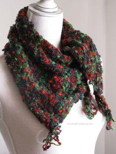 Feel good in December…scarf, based on Autumn wind baktus free pattern http://bottheka.com/en/feel-good-in-december