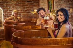 Pull your own glasses of beer at The Beer Spa in Prague.