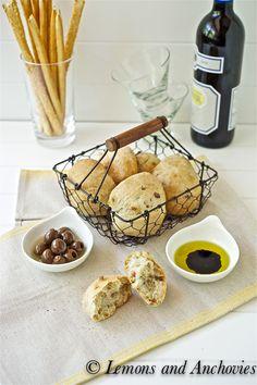 Olive-Pancetta Rolls (No-Knead Method)