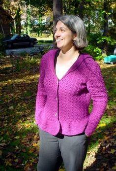 Great free crochet sweater pattern. Purple Haze - Media - Crochet Me