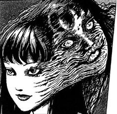 JUNJI ITO - double personality: the liar and the slug. Junji Ito, Arte Horror, Horror Art, Manga Gore, Manga Anime, Ero Guro, Japanese Horror, Photo D Art, Manga Artist