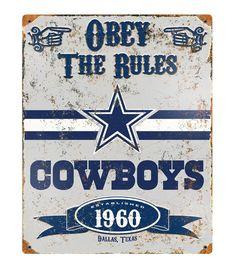 Dallas Cowboys NFL Vintage Sign
